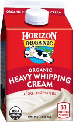 Whipping Cream, Horizon® Organic, Heavy Whipping Cream (1 Pint Carton)