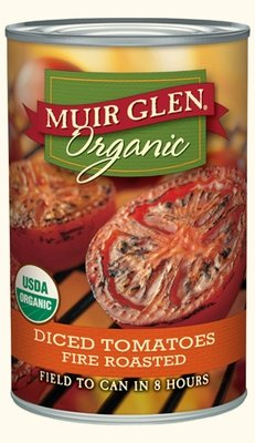 Canned Tomato, Muir Glen® Organic, Diced Tomatoes, Fire Roasted, 14.5 oz Can