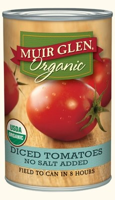 Canned Tomato, Muir Glen® Organic No Salt Added Diced Tomatoes (14.5 oz Can)