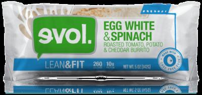 Frozen Burrito, Evol® Egg & White Spinach Burrito (5 oz Bag)