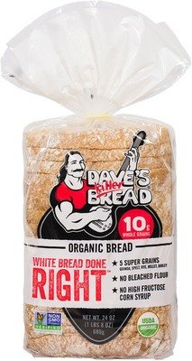 Loaf Bread, Dave's Killer Bread® White Bread Done Right (24 oz Bag)