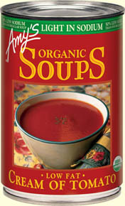 Canned Organic Soup, Amy's® Organic Cream of Tomato Soup, Low Fat & Light Sodium (14.5 oz Can)
