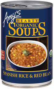 Canned Organic Soup, Amy's® Organic Spanish Rice & Red Bean Soup (14.5 oz Can)