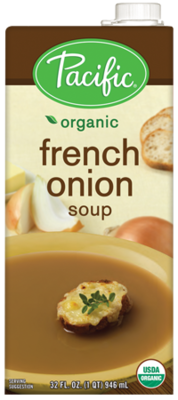 Boxed Organic Soup, Pacific® Organic French Onion Soup (32 oz Box)