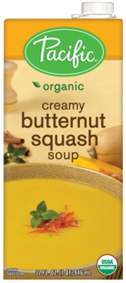 Boxed Organic Soup, Pacific® Organic Creamy Butternut Squash Soup (32 oz Box)