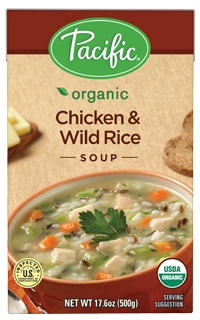 Boxed Organic Soup, Pacific® Organic Chicken Wild Rice Soup (17.6 oz Box)