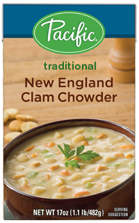 Boxed Organic Soup, Pacific® Organic New England Clam Chowder (17.6 oz Box)