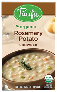 Boxed Organic Soup, Pacific® Organic Rosemary Potato Chowder (17.6 oz Box)