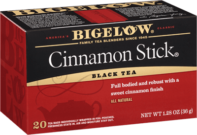 Tea, Bigelow® Black Tea, Cinnamon Stick® 1.28 oz Box (20 Bags)
