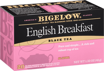 Tea, Bigelow® Black Tea, English Breakfast® 1.5 oz Box (20 Bags)