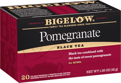 Tea, Bigelow® Black Tea, Pomegranate® 1.5 oz Box (20 Bags)