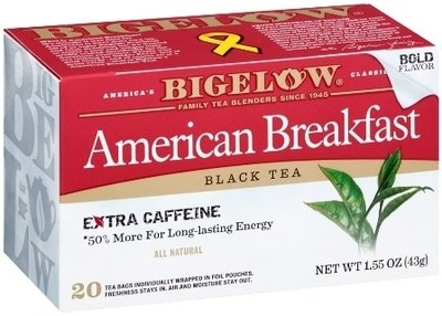 Tea, Bigelow® Black Tea, American Breakfast® 1.55 oz Box (20 Bags)