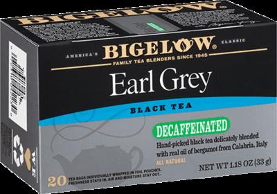 Tea, Bigelow® Black Tea, Earl Grey® Decaf, 1.18 oz Box (20 Bags)