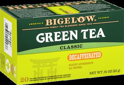 Tea, Bigelow® Green Tea® Decaf, .91 oz Box (20 Bags)
