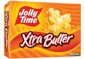 Microwave Popcorn, Jolly Time® Xtra Butter, 9.6 oz. Box (3 Bags)