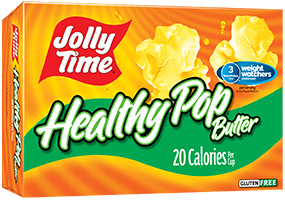 Microwave Popcorn, Jolly Time® Healthy Pop, Butter, 9 oz. Box (3 Bags)