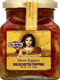 Pasta Sauce, Gia Russa® Sweet Peppers Bruschetta Topping (11 oz Jar)