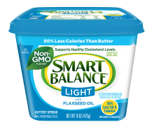 Butter, Smart Balance® Light with Flax-seed Oil Buttery Spread (15 oz Tub)