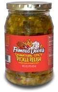 Preserved Pickles, Famous Dave's® Signature Spicy Pickle Relish (16 oz Jar)