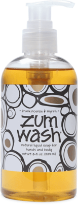 Hand and Body Wash, Zum Wash® FrankIncense-Myrrh Body Wash (8 oz Pump Bottle)