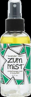 Aromatherapy, Zum Mist® Lavender-Mint Body Mist (4 oz Pump Bottle)
