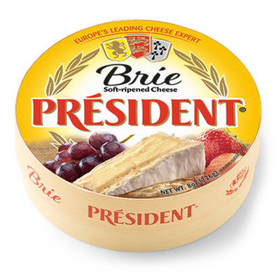 Cheese, Président® Brie Cheese, 8 oz Wheel