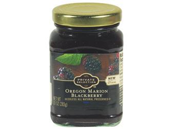 Fruit Spread, Private Selection® Oregon Marion Blackberry Preserves (10 oz Jar)