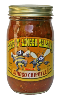 Salsa, Sting 'N' Linger® Medium Mango Chipolte Salsa (16 oz Jar)