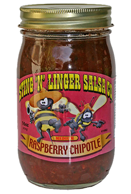 Salsa, Sting 'N' Linger® Medium Raspberry Chipolte Salsa (16 oz Jar)