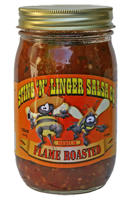 Salsa, Sting 'N' Linger® Medium Flame Roaster Salsa (16 oz Jar)