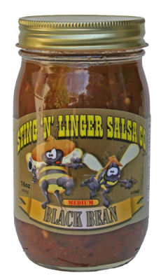 Salsa, Sting 'N' Linger® Medium Black Bean Salsa (16 oz Jar)
