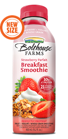 Juice Drink, Bolthouse Farms® Breakfast Smoothie, Strawberry Parfait (15.2 oz Bottle)