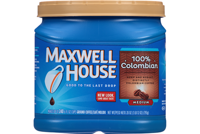 Ground Coffee, Maxwell House® 100% Colombian Ground Coffee (24.5 oz Tub)