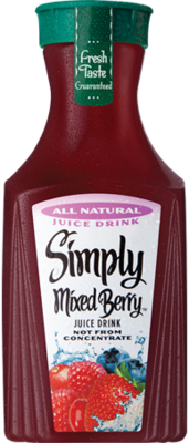Juice Drink, Simply Berry® Mixed Berry Juice (52 oz Bottle)