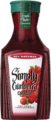 Juice Drink, Simply Cranberry® Cocktail Juice (52 oz Bottle)