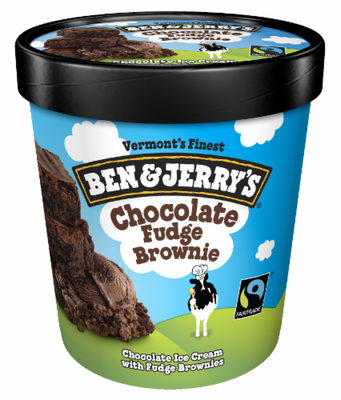 Ice Cream, Ben & Jerry's® Chocolate Fudge Brownie Ice Cream (1 Pint, 16 oz Cup)