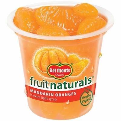 Fruit, Del Monte® Fruit Naturals® Mandarin Oranges (7 oz Cup)