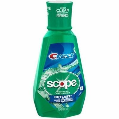Mouthwash, Crest® Scope® Outlast Mint Mouthwash (1 Liter Bottle)