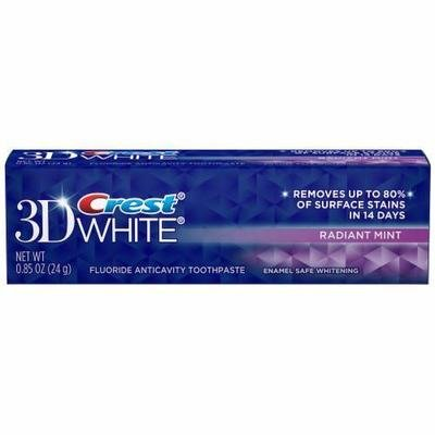 Toothpaste, Crest® Vivid White 3D Mint Toothpaste (.85 oz Box)