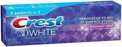 Toothpaste, Crest® Vivid White 3D Mint Toothpaste (3.5 oz Box)