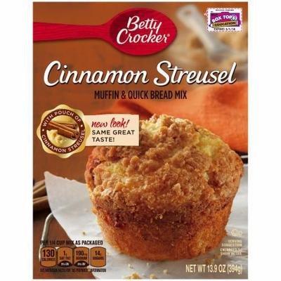Muffin Mix, Betty Crocker® Cinnamon Streusel Muffin Mix (13.9 oz Box)