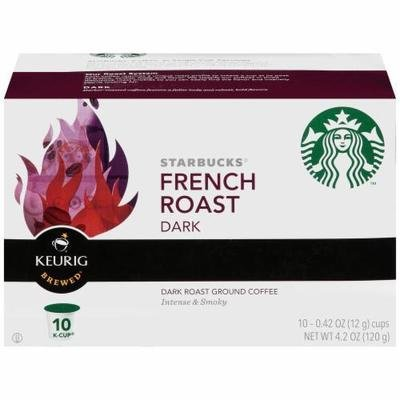 K Cup Coffee, Starbuck's® French Roast™ K Cup Coffee (Box of 10 Single K Cups)