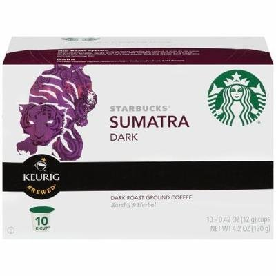 K Cup Coffee, Starbuck's® Sumatra K Cup Coffee (Box of 10 Single K Cups)