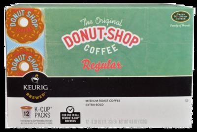 K Cup Coffee, Donut-Shop® Regular™ K Cup Coffee (Box of 12 Single K Cups)