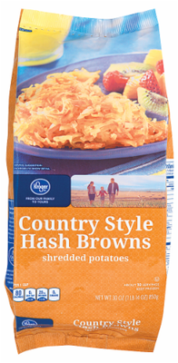 Frozen Potatoes, Kroger® Country Style Shredded Hash Browns (30 oz Bag)