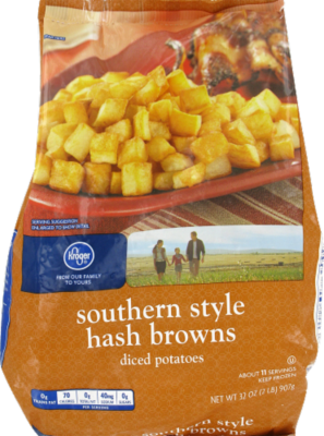 Frozen Potatoes, Kroger® Southern Style Shredded Hash Browns (32 oz Bag)