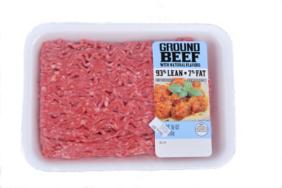 Meat, Ground Beef 93% Lean (1 lb Tray)