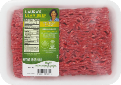 Meat, Laura's® Lean All Natural Ground Beef 92% Lean (1 lb Tray)