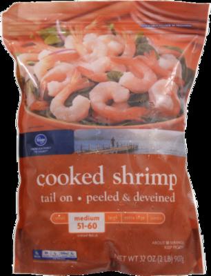 Frozen Shrimp, Kroger® Cooked Cocktail Shrimp (2 Pound = 32 oz Bag)