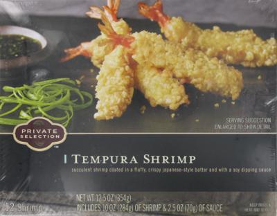 Frozen Shrimp, Private Selection® Tempura Shrimp (12.5 oz Box)